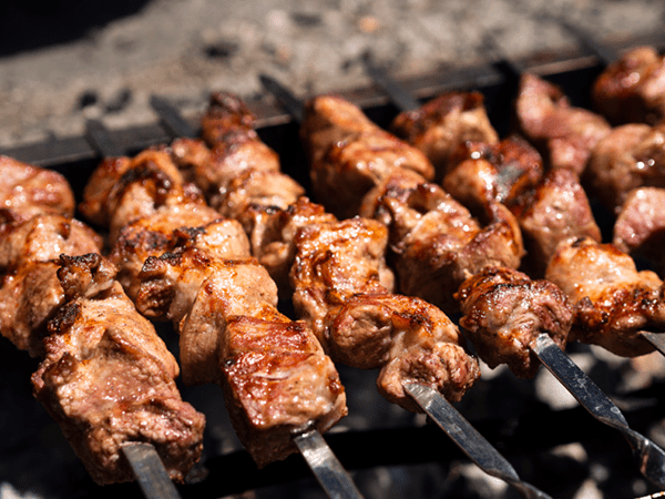 Broiled Beef Kebabs