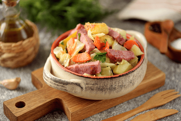 Sautéed Cabbage With Ham, Sage And Quinoa