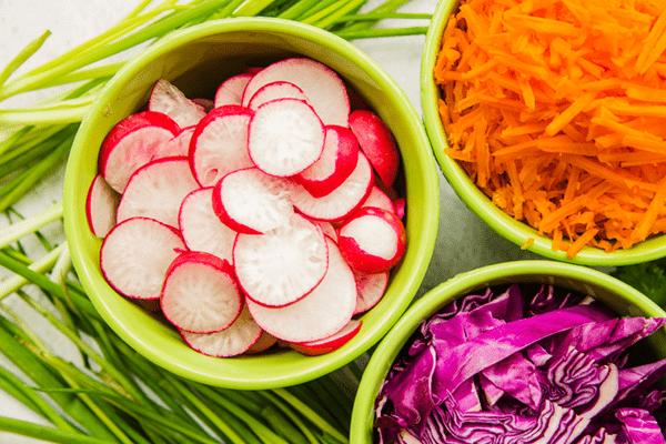Radish Carrot And Ginger Salad