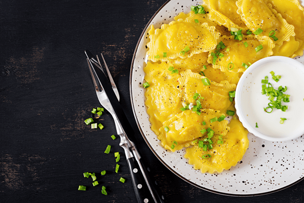 Ravioli With Sweet Potatoes Mascarpone And Parsley
