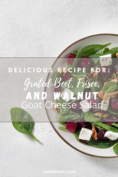 Grated Beet, Frisee, Walnut And Goat Cheese Salad_1