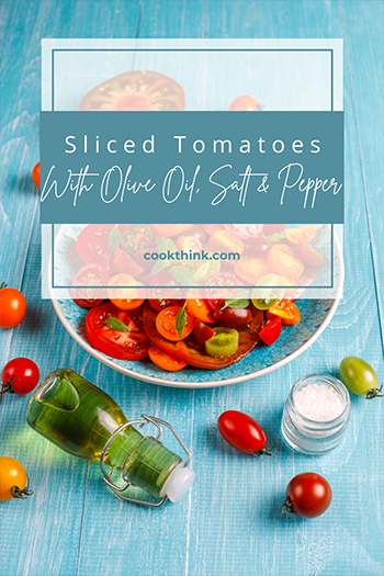 Sliced Tomatoes With Olive Oil, Salt And Pepper_4