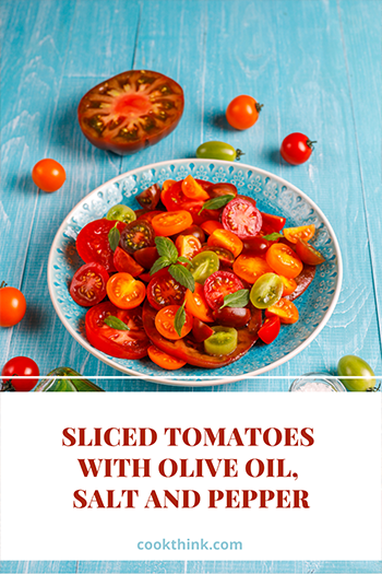 Sliced Tomatoes With Olive Oil, Salt And Pepper_7