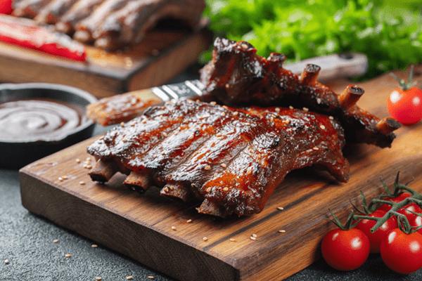 Pomegranate Glazed Pork Ribs