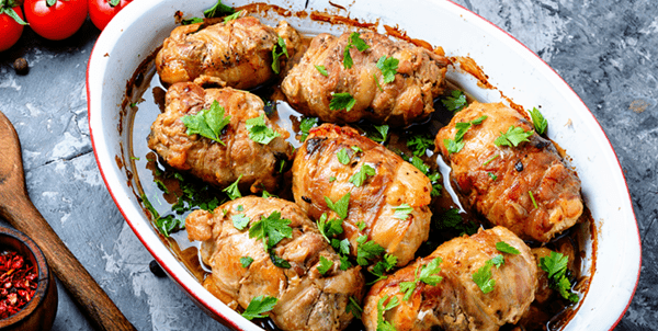 Turkey Rolls With Oyster Stuffing