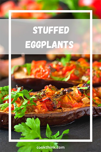 Eggplants Stuffed With Onions, Tomatoes, And Parsley