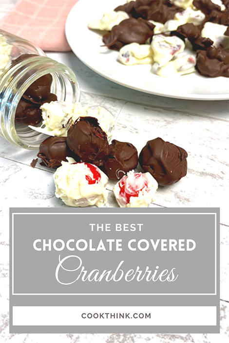 Chocolate Covered Cranberries Pinterest Pin Image