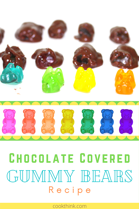 Chocolate Covered Gummy Bears Pinterest Image
