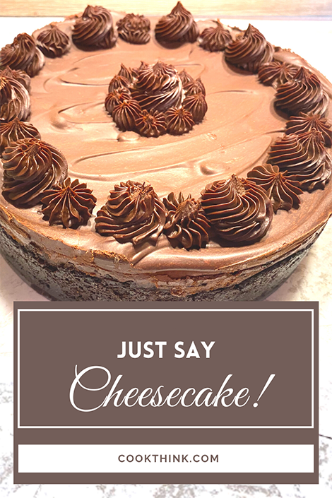 Just Say Cheesecake! Pinterest Image