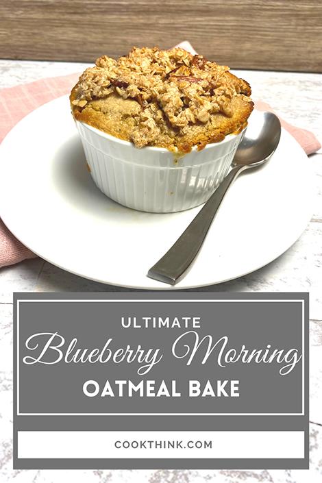 Ultimate Blueberry Morning Oatmeal Bake Pinterest Image