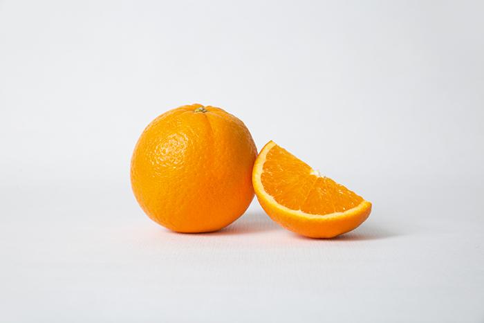 fresh cut orange