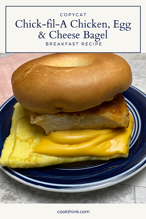 Chick-fil-A chicken, Egg and cheese Bagel Pinterest Image