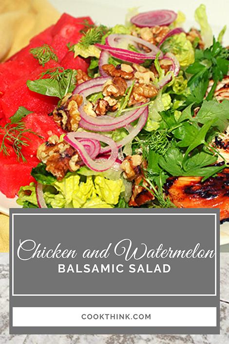 Chicken and Watermelon Balsamic Salad_Pinterest Pin