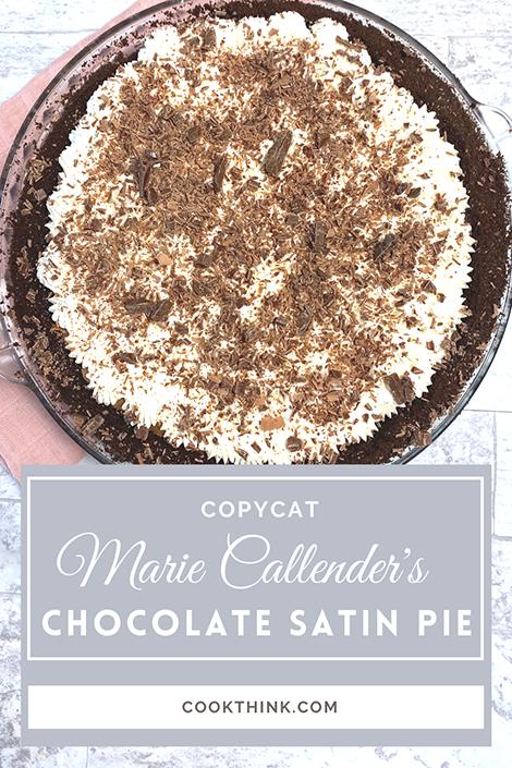 Copycat Marie Callender's Chocolate Satin Pie_Pinterest pin