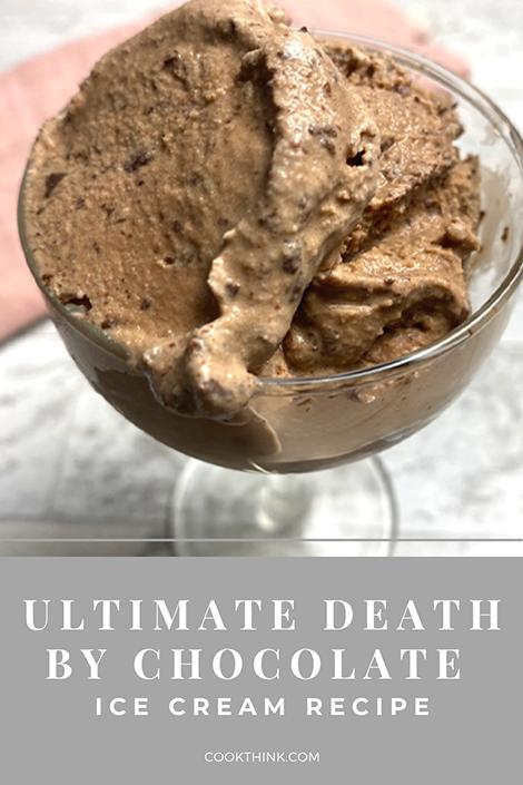 Death By Chocolate Ice Cream Recipe Pinterest Image