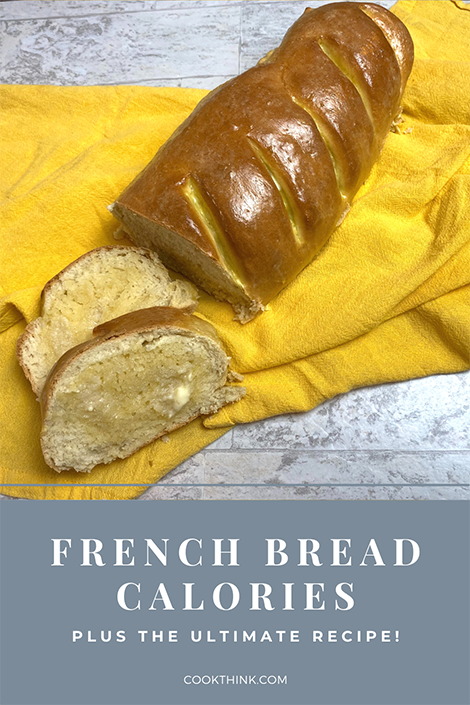 French Bread Calories_Pinterest Image