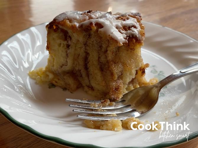 glazed french toast cinnamon swirl slice with fork