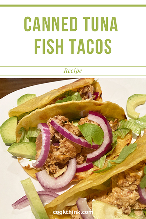 Canned Tuna Fish Tacos Pinterest Image