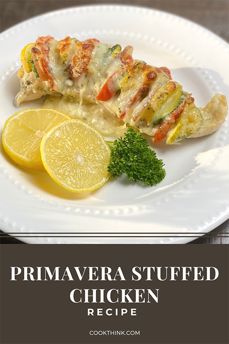 Primavera Stuffed Chicken Pinterest Image