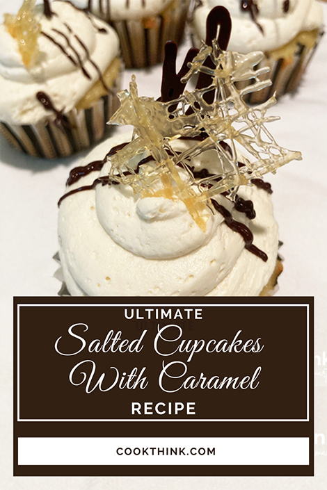 Salted Cupcakes With Caramel Pinterest Image