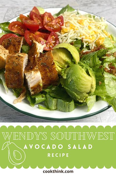 Wendy's Southwest Avocado Salad Pinterest Image
