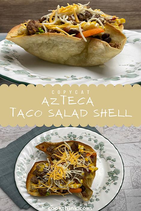 azteca taco salad shell Pinterest image