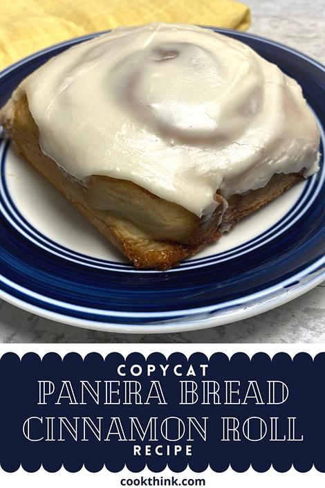 copycat panera bread cinnamon roll recipe pinterest image