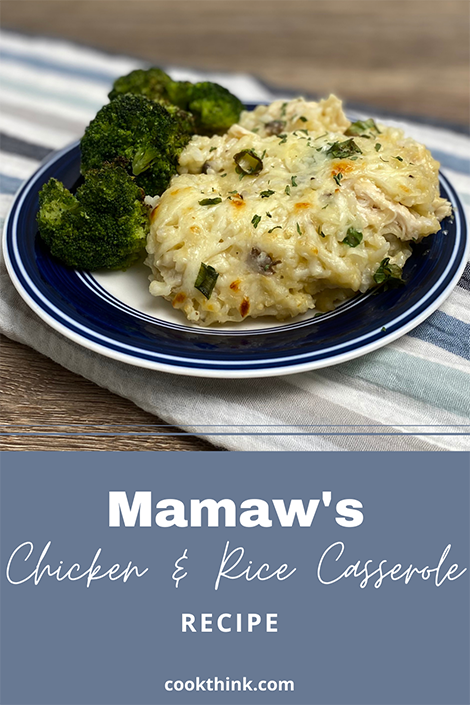 Chicken and Rice Casserole Pinterest Image