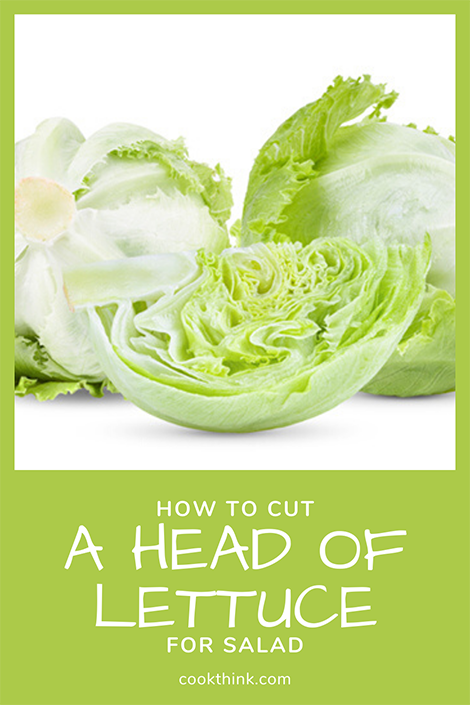 How to Cut a Head of Lettuce Pinterest Image