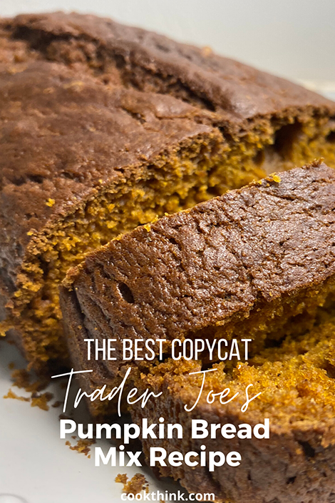 Trader Joe's pumpkin bread mix pinterest image