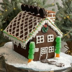oreo gingerbread house with icicles