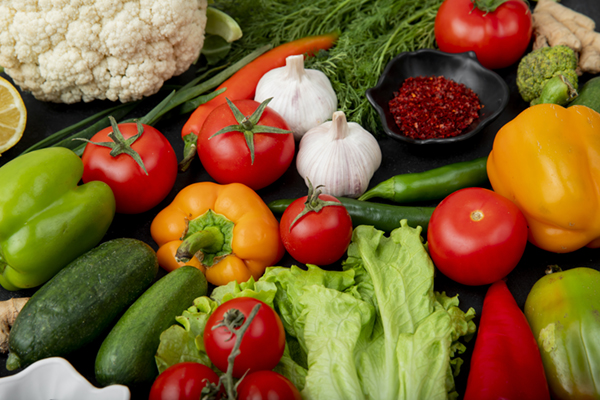 table full of a variety of vegetables